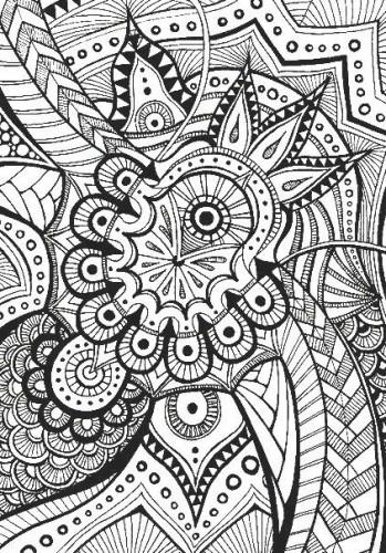 успокаивающая раскраска узоры медитативные антистресс